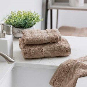 Welspun 4-piece Organic Hand & Washcloth Towel Set